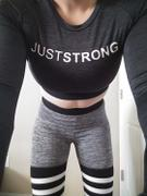 Just Strong Black / Slate Melange Long Sleeve Crop Top Review