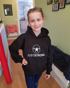 Just Strong Jet Black Pullover Kids Hoodie Review