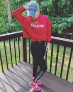 Just Strong Fire Red Cropped Statement Hoodie Review