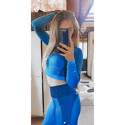 Just Strong Bright Blue / Navy Seamless Panelled Long Sleeve Review