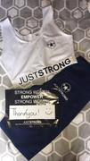 Just Strong ALL WHITE JUST STRONG SPORTS BRA Review