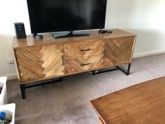Living By Design MAXIM PARQUETRY HERRINGBONE SIDEBOARD CONSOLE Review