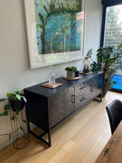 Living By Design PRE ORDER | MAXIM PARQUETRY HERRINGBONE SIDEBOARD CONSOLE  |  BLACK Review
