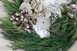 Afloral.com SALE -  Real Touch Norfolk Pine Wreath - 24 Review