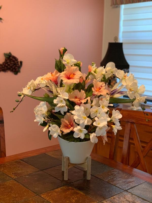 Light Pink Hibiscus Silk Flower Online Silk Flowers Afloral Com