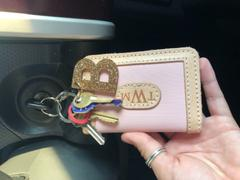 Lucky Feather Glitter Letter Keychain - B Review