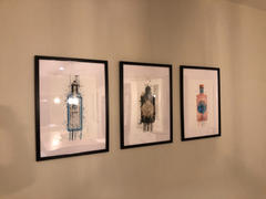We Love Prints Gin Bottle Wall Art Print 'Ocean Blue' Review