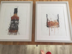 We Love Prints Whiskey Bottle Wall Art Print 'Umber' Review