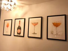 We Love Prints Champagne Bottle Wall Art Print 'Rosy' Review