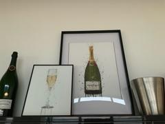 We Love Prints Champagne Bottle Wall Art Print 'Olive Green' Review