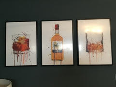 We Love Prints Rum Bottle Wall Art Print 'Treasure Island' Review