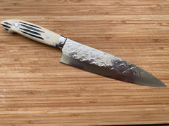 JapaneseChefsKnife.Com Takeshi Saji SRS-13 Custom Series Gyuto (210mm and 240mm, 2 Sizes, Stag Bone Handle) Review