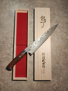JapaneseChefsKnife.Com Takeshi Saji R-2 Custom Black Damascus Wild Series Gyuto (180mm to 270mm, 4 sizes, Ironwood Handle) Review