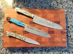 JapaneseChefsKnife.Com Mr. Itou R-2 Custom Damascus Gyuto 180mm (7 inch, Turquoise & Ironwood Custom Combination Handle,  IT-620) Review