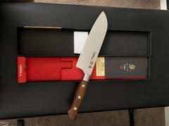 JapaneseChefsKnife.Com Hattori 傘 SAN Series Limited Edition FH Series SAN-2 Santoku 170mm  (6.6 inch, Desert Ironwood Handle) Review