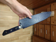JapaneseChefsKnife.Com JCK Natures Blue Clouds Series BCD-2 VG-10 Tsuchime Damascus Santoku 180mm (7 inch) Review