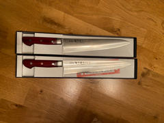 JapaneseChefsKnife.Com HIRO (SHIKI) Tetsujiro Stainless-clad VG-10 Gyuto (210mm and 240mm, 2 Sizes, Cherry Pakka Wood Handle) Review