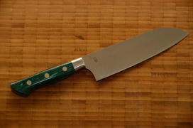 JapaneseChefsKnife.Com Hattori Forums Custom Limited Edition Year 2020, FH Series FH-4SP2020G Santoku 170mm (6.6 Inch, Green Malachite GemStone Handle) Review
