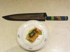 JapaneseChefsKnife.Com Custom Limited Edition, Takeshi Saji Rainbow Damascus Wa Gyuto 240mm (9.4 Inch, STCL-134) Review