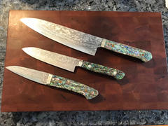 JapaneseChefsKnife.Com Mr. Itou R-2 Custom Damascus Small-Gyuto 130mm (5.1 inch) Abalone Handle (IT-685) Review