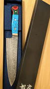 JapaneseChefsKnife.Com Mr. Itou R-2 Custom Damascus Gyuto 180mm (7 Inch) Custom Combination Handle(Turquoise/Japanese Lacquer) (IT-750) Review