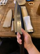 JapaneseChefsKnife.Com Mizuno Tanrenjo Akitada Ao Hagane DX Series Blue Steel No.1 Clad Wa Gyuto with Shinogi (210mm to 270mm, 3 sizes) Review