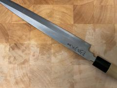 JapaneseChefsKnife.Com Masamoto KA Series Hon Kasumi Blue Steel No.2 Yanagiba (240mm to 330mm, 4 sizes) Review