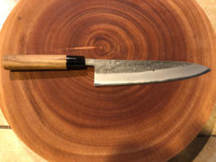 JapaneseChefsKnife.Com JCK Natures Blue Moon Series BM-5 Wa Gyuto 210mm (8.2 inch) Review