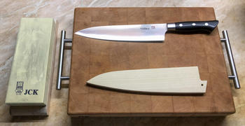 JapaneseChefsKnife.Com Hattori Forums FH Series Gyuto (210mm to 270mm, 3 sizes, Black Linen Micarta Handle) Review