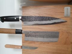 JapaneseChefsKnife.Com Takeshi Saji Aogami Super Custom Series Gyuto (150mm to 270mm, 5 sizes, Linen Micarta Handle) Review