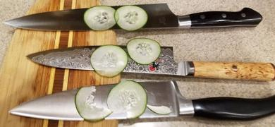 JapaneseChefsKnife.Com Hattori Forums FH Series Gyuto (210mm to 270mm, 3 sizes, African Blackwood Handle) Review