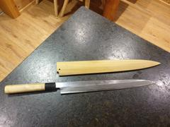 JapaneseChefsKnife.Com Mizuno Tanrenjo Akitada Ao Hagane DX Series Blue Steel No.1 Yanagiba (180mm to 360mm, 7 sizes) Review