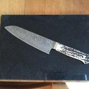 JapaneseChefsKnife.Com Mr. Itou R-2 Custom Damascus Santoku (170mm and 180mm, 2 sizes) Stag Handle Review