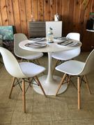 Modholic 35.5 Tulip Dining Table Set - Eiffel Wood leg Chairs Review
