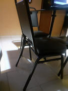 Do it Center Online Silla de metal acolchonada negra para banquete Review