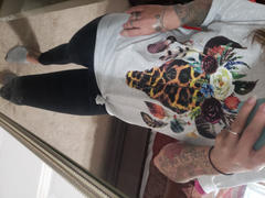 Envy Stylz Boutique Leopard Floral Feather Bull Skull Graphic Tee Review