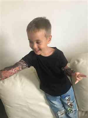 Aaron S. verified customer review of Biker Tat Shirt (2T-7T)