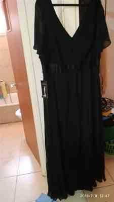 Giulia L. verified customer review of Long Empire Waist Evening Dress with Short Flutter Sleeves