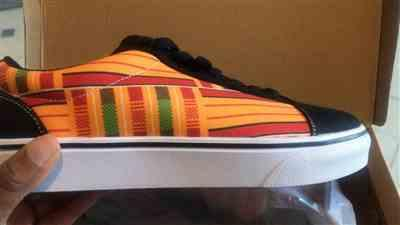 Francine verified customer review of Mensah - Baskets imprimé kente avec simili daim
