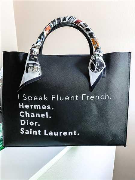 Los Angeles Trading Company MODERN VEGAN TOTE - Fluent French Review