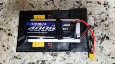 Keith K. verified customer review of Admiral 4000mAh 4S 14.8V 40C LiPo Battery with  XT60 Connector