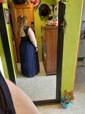 Carol J. verified customer review of Plus Size Sleeveless Grecian Style Evening Dress