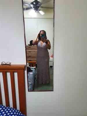 Megan T. verified customer review of Plus Size Sexy Fitted Lace Mermaid Style Evening Gown