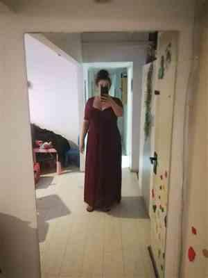 Samira D. verified customer review of Plus Size Floor Length Empire Waist Evening Dress