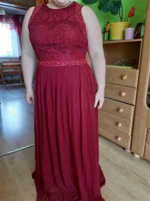 Ilana A. verified customer review of Sleeveless Maxi Long A Line Plus Size Lace Evening Dresses