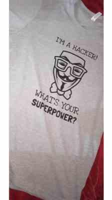 Ritik S. verified customer review of I'm a hacker! What's your superpower? - Short-Sleeve Unisex T-Shirt (black text)