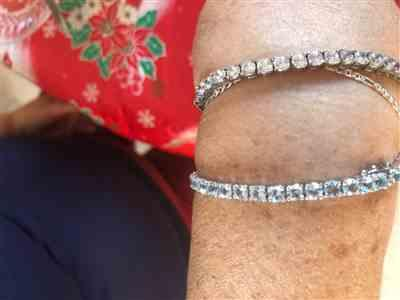 SilverSpeck Sterling Silver 2-Row Oval Blue Topaz Gemstone Bracelet Review