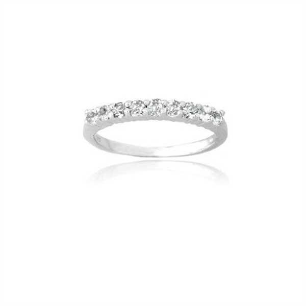 SilverSpeck Sterling Silver White Topaz Semi-Eternity Band Ring Review