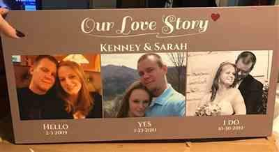Kenney Stumpf verified customer review of Our Love Story Custom 3 Photo Canvas