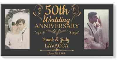 Gina LaVacca verified customer review of 50th Wedding Anniversary Photo Canvas Gift